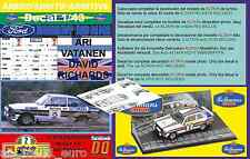 ANEXO DECAL 1/43 FORD ESCORT RS 1800 MK II ROTHMANS A.VATANEN R.BRASIL 1981 (01)