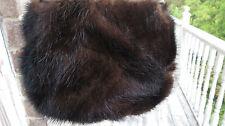 New Marshall Fields Mink Sable brown color mink fur evening handbag bag os