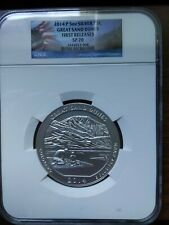 2014 P 5oz Silver ATB Great Sand Dunes NGC SP 70 Early Releases - America The Be