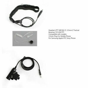 Throat Acoustic Tube Mic 7.1mm Plug Headset + 3.5mm Z Bowman TCI U94 PTT AY