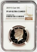 2019 S Clad 50C Proof Kennedy Half Dollar NGC PF69 ULTRA CAMEO - Brown Label -