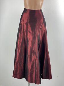 KALEIDOSCOPE Red Lustre Taffeta Heavy Swing Skirt 12 Steampunk Victoriana