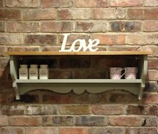 Shabby Chic Shelf/cabinet/wall Unit/shelf Unit In French Gray
