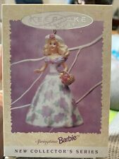 1996 Springtime Barbie Collector Series Hallmark Keepsake Ornament - Nib !