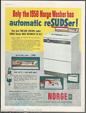 1956 NORGE washing machine advertisement, automatic reSUDSer, large size advert