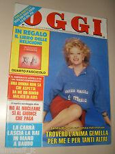 OGGI=1987/13=SANDRA MILO=LIALA=MAURIZIO MARINI CARAVAGGIO=IGNAZIO BUTTITTA=