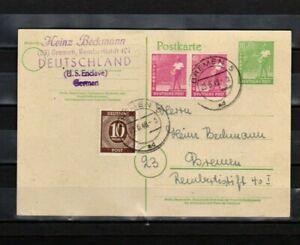 Ganzsache Alliierte Besetzung + Bizone gelaufen Bremen 23.6.1948 sauber (03)