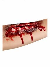 Open Wound Halloween Fake Latex Joke Scar Fancy Dress Zombie Special FX Make Up