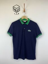 Lacoste, Para Hombre Talla S (3), la Armada, logotipo de Brasil, REG FIT Camisa Polo, * MBC *