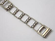 Vintage 14KT White Gold Filled Simmons art deco watch band bracelet for wire lug