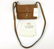 Etienne Aigner Harper Small Crossbody Toffee Brown Leather Shoulder Bag NWT $198