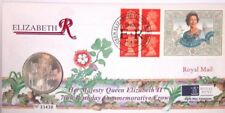 GB QEII PNC COIN COVER 1996 QUEEN ELIZABETHS 70TH BIRTHDAY £5 COIN ROYAL MINT