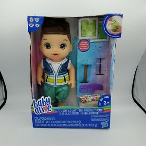 Baby Alive Sweet Spoonfuls Boy Doll Hasbro Brunette Brown Hair Hard To Find