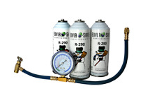 Enviro-Safe R-290 3 Can with Gauge Set #8006
