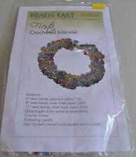 Beads East Designer FIESTA CROCHET BRACELET Beading KIT - All Materials Included