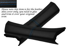 BLUE STITCH 2X A PILLAR LEATHER SKIN COVERS FITS CHRYSLER CROSSFIRE 2003-2007