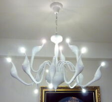 White Swan Arms Pendant Light Suspension Chandelier Ceiling Lamp 12 Lights