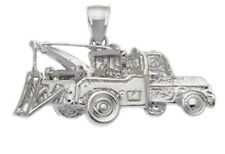 New 100% 0.925 Sterling Silver Tow Truck Charm Pendant
