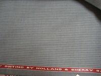 "5.22 yd HOLLAND SHERRY WOOL FABRIC Crispaire Super Fine 10 oz SUITING 188"" BTP"