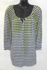 Rayon 3/4 Sleeve Striped Plus Size Tops & Blouses for Women