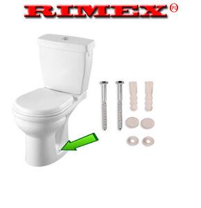 Toilet Pan Fixing Set Kit Screws Plugs Washers White Caps Screw Plug Cap Bath