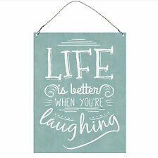 Life Is Better When You're Laughing Cute Inspirational  Metal Sign Retro Plaque