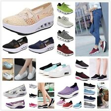 Женский платформе на шнуровке воздухопроницаемый кроссовки женские фитнес прогулки спорт обувь США