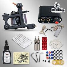 Dragonhawk Beginner Tattoo Kit 1 Machine Gun Professional Tattoo Kits Power Ink