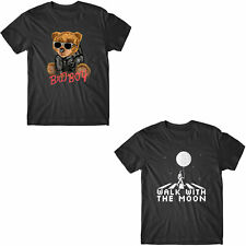 Funny Bear Cartoon Character With Sunglasses Cool Style T-Shirt