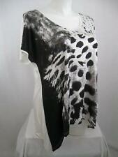 Animal Print Casual Plus Size Knit Tops for Women