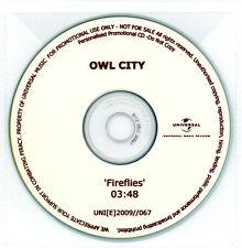 Owl City 'Fireflies' 1-Track BELGIUM 2009 Promo CD - Excellent & Rare!