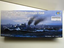 Trumpeter 1 350 HMCS Huron Destroyer 1944 Plastic Model Kit With Ran Decals