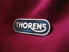 Thorens turntable brass logo badge