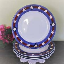 Dinner Plates USA Flag Stoneware Brandon House Spirit of the Flag 4pc Sakura