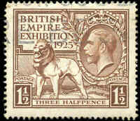 Used Great Britain F-VF Scott #204 1925 1-1/2p stamp