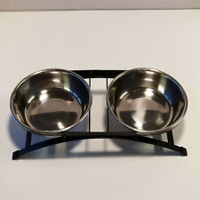 Whisker City Arch Double Diner Cat Feeding Bowls Stainless Steel Brand New