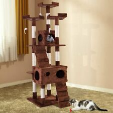 """67"""" Cat Tree Pet Kitty Tower Condo Furniture Scratching Post Play House"""