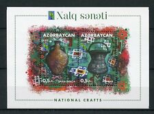 Azerbaijan 2017 MNH RCC National Crafts Handicrafts 2v M/S Cultures Stamps