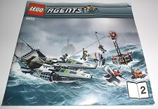 LEGO AGENTS 8633 INSTRUCTION BOOKLET MANUAL ONLY