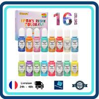 16 Couleurs Liquides Colorants Resine Epoxy Concentré Coloration Résine Creation