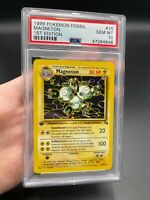 PSA 10 1st Edition Magneton 26/62 Fossil Set Pokemon Card VINTAGE WOTC