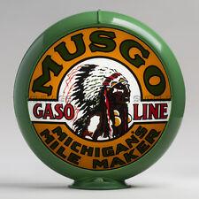 """Musgo 13.5"""" Gas Pump Globe w/ Green Plastic Body (G153)"""