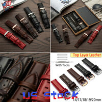 Watch Band Strap Replacement Belt Stainless Steel Pin Clasp Black Brown Red US
