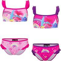 Costume da bagno bambina Trolls 2 pezzi bikini bimba mare piscina 4 5 6 8 anni