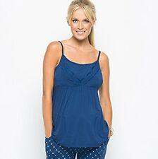 Amoralia Lace Cami Nursing Maternity Camisole Top Blue Azure Size L UK 14 NEW3