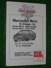 MERCEDES BENZ CDi E-CLASS 2000-06 WORKSHOP MANUAL W210 W211 E320 E280 E270 E220