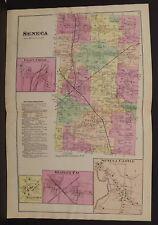 New York  Ontario County Map Seneca Township 1874 Dbl Pg  W15#14
