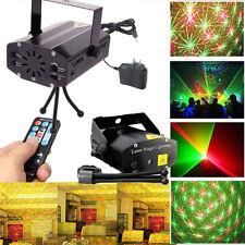 Mini Red & Green Stage Lighting Christmas DJ Disco Ktv Party w/ IR Remote