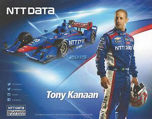 "2015 INDY 500 TONY KANAAN BRAZIL GANASSI RACING INDYCAR 7""X 9"" HERO CARD !"