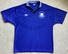 Vintage Everton Football Shirt Top XL UMBRO